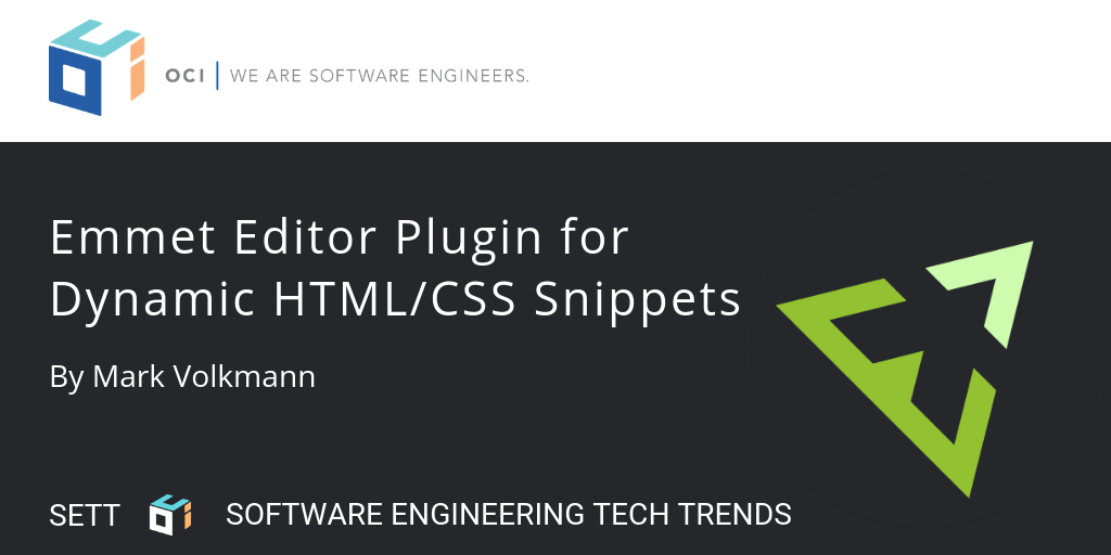 Emmet Editor Plugin for Dynamic HTML/CSS Snippets | OCI