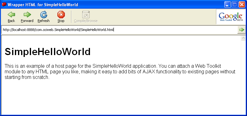GWT's Embedded Browser