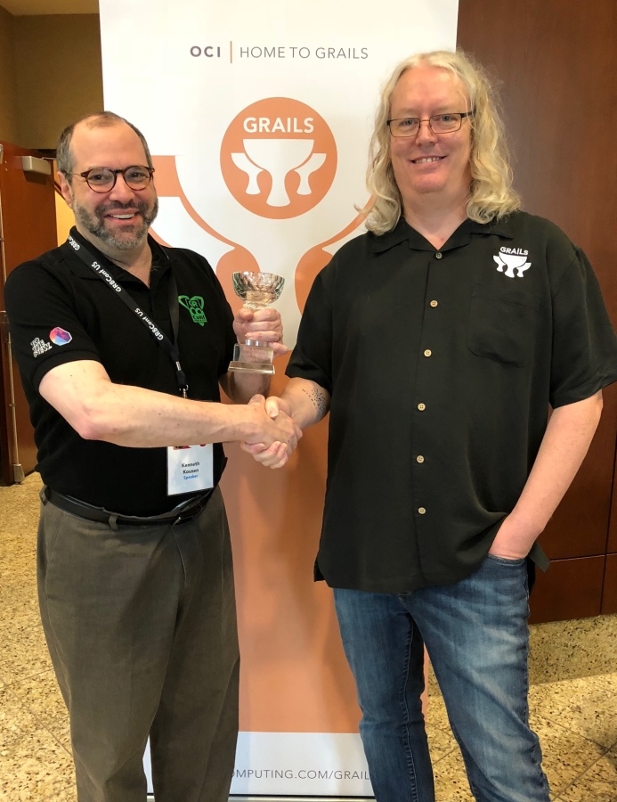 Jeff Scott Brown and Ken Kousen: 2018 Grails Rock Star Award