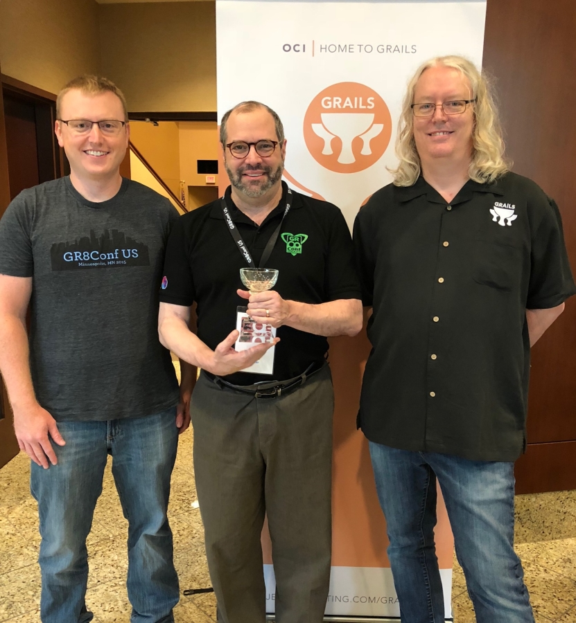 Eric Helgeson, Ken Kousen, and Jeff Scott Brown at GR8Conf US 2018