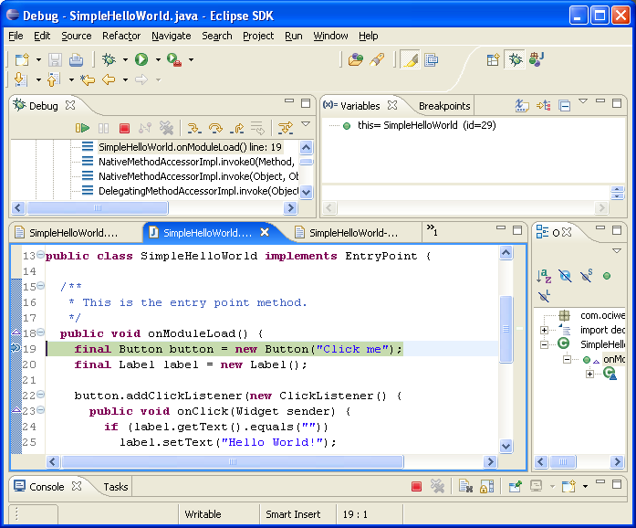 Debugging Client Side from IDE