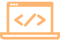 icon laptop html orange 500x500
